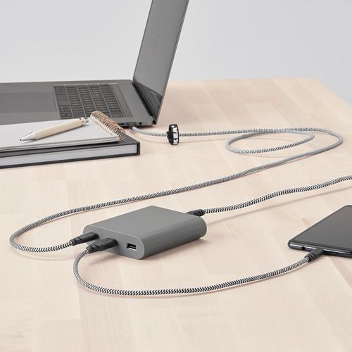 ÅSKSTORM cargador USB tipo A y C, 40W, largo del cable 1,5m