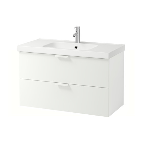 ODENSVIK/GODMORGON mueble de baño para lavabo con 2 cajones, juego de 3