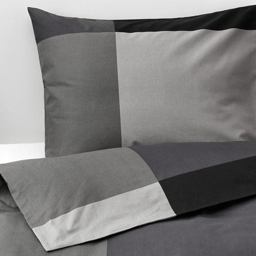 BRUNKRISSLA funda nórdica y funda almohada, 152 hilos, 80 y 90cm
