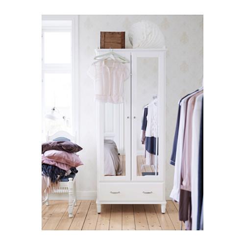 TYSSEDAL armario con 2 puertas de espejo y 1 cajón