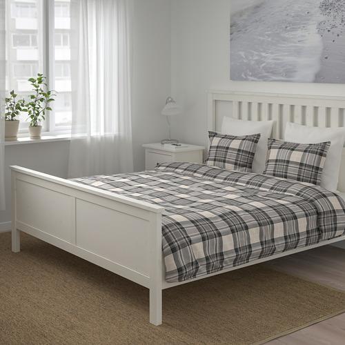SMALRUTA funda nórdica  y 2 fundas almohada, 152 hilos, 140-160 y 180cm