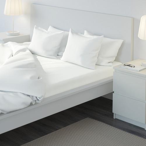 ULLVIDE sábana bajera ajustable, 200 hilos, 180cm