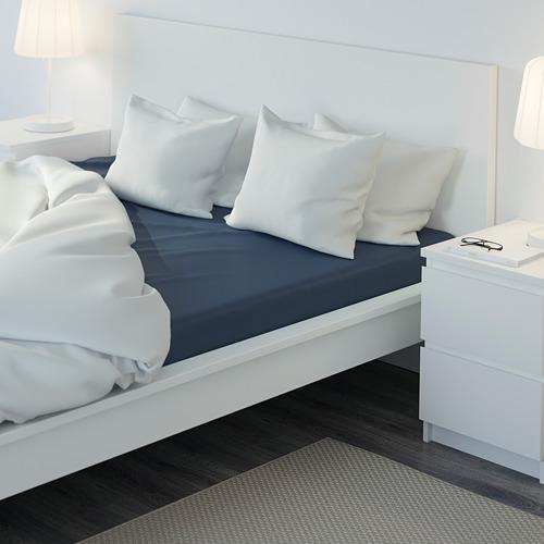 ULLVIDE sábana bajera ajustable, 200 hilos, 140cm