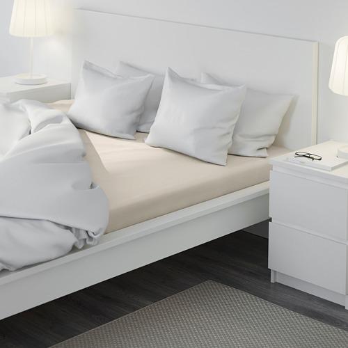 DVALA sábana bajera ajustable, 152 hilos, 140cm
