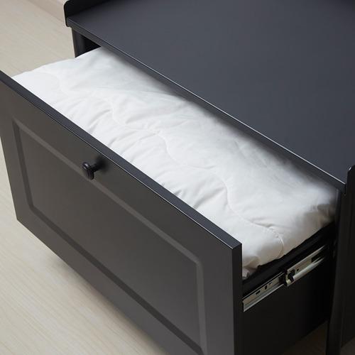 KORNSJÖ banco con cajón, 70x47x51cm
