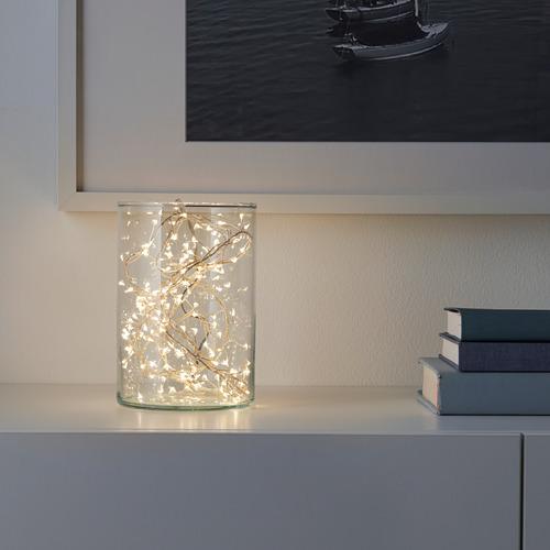 STRÅLA guirnalda LED 160 luces,3,5m de longitud