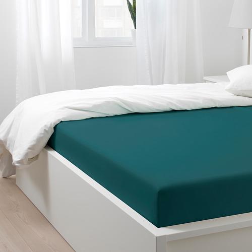 NATTJASMIN sábana bajera ajustable, 310 hilos, 180cm