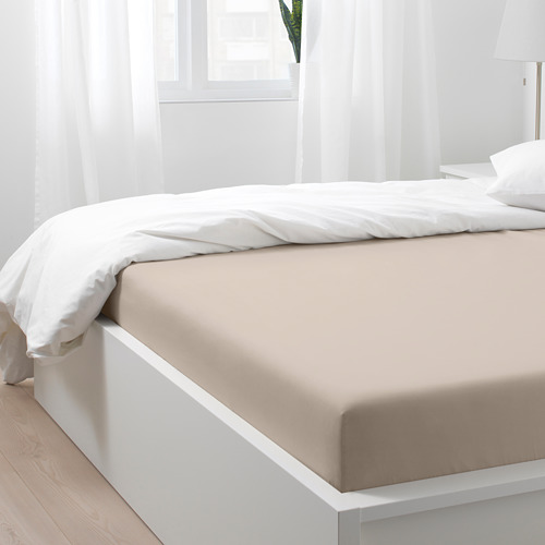 NATTJASMIN sábana bajera ajustable, 310 hilos,160cm