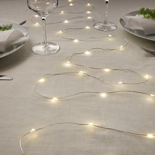 VISSVASS guirnalda LED 40 bombillas