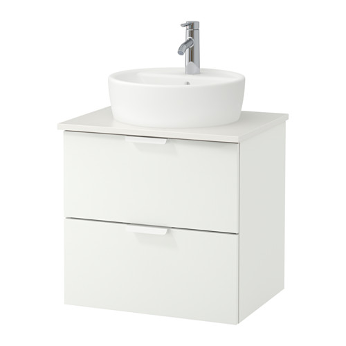GODMORGON/TOLKEN/TÖRNVIKEN mueble de baño para lavabo con 2 cajones, juego de 4