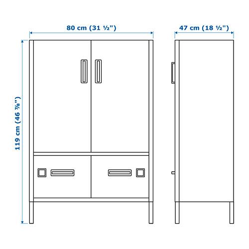 IDÅSEN armario puertas cajones