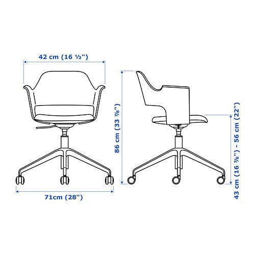 FJÄLLBERGET silla reunión con ruedas