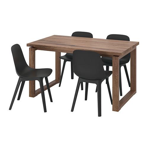 ODGER/MÖRBYLÅNGA mesa con 4 sillas, longitud de la mesa 140cm