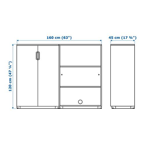 GALANT Combinación de armario y estantería