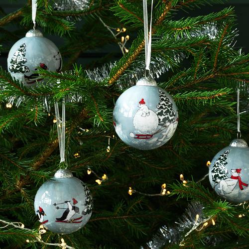 VINTER 2020 bola árbol Navidad, juego de 4, 7cm de diámetro