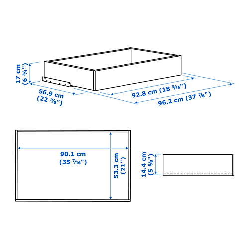 KOMPLEMENT cajón+frente vidrio