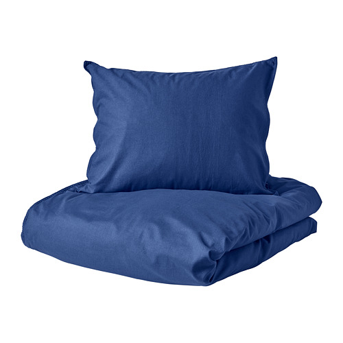 ÄNGSLILJA funda nórdica y funda almohada, 125 hilos, 80 y 90 cm