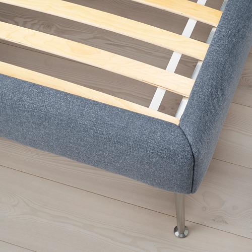 TUFJORD cama 140cm, estructura cama tapizada con somier