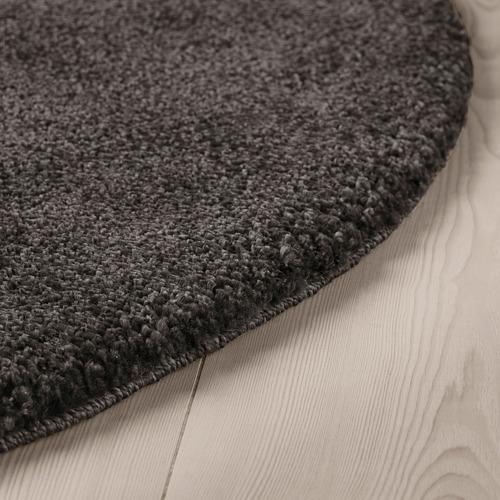 STOENSE alfombra, pelo corto, Ø130 cm