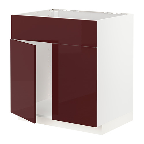 METOD armario bajo para fregadero puertas
