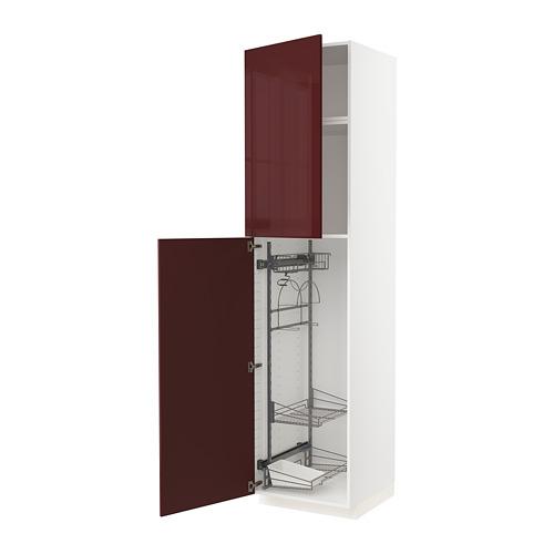 METOD armario alto para limpieza