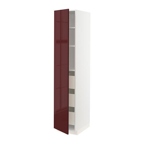 MAXIMERA/METOD armario alto con puerta y cajones