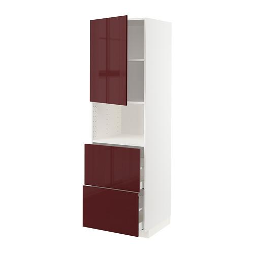 METOD/MAXIMERA armario alto microondas 2 cajones