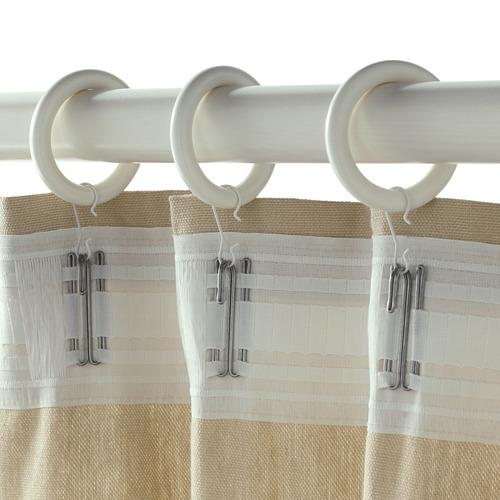PORTION anilla cortina con clip y gancho