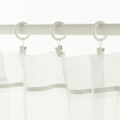 SYRLIG anilla cortina con clip y gancho