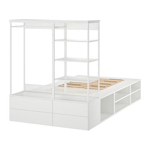 PLATSA estructura cama 4 cajones