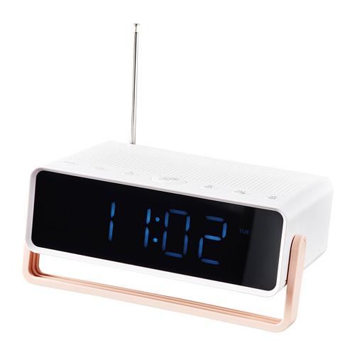 DÅNDIMPEN radio despertador/altavoz bluetooth, 16x5cm