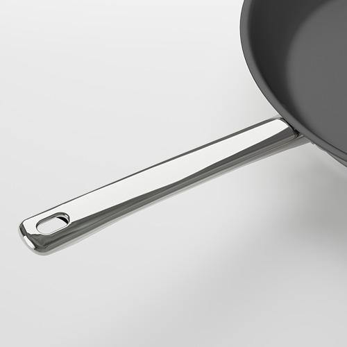 OUMBÄRLIG batería de cocina, incluye: olla con tapa de 5L, olla con tapa de 3L, cacerola con tapa de 2L y sartén de 28 cm de diámetro.