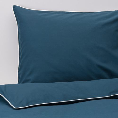 KUNGSBLOMMA funda nórdica y 2 fundas almohada, 200 hilos, 140-160 y 180cm