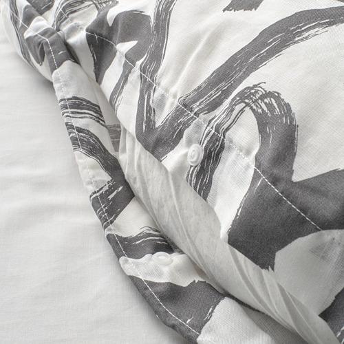 LYKTFIBBLA funda nórdica y funda  almohada,120 hilos, 80 y 90cm