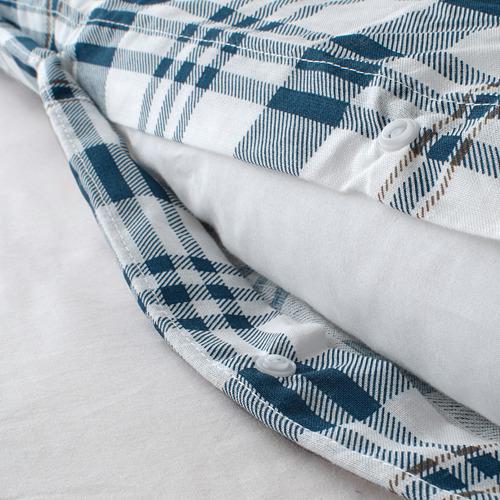 SPIKVALLMO funda nórdica y funda almohada, 120 hilos, 80 y 90cm