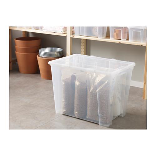 SAMLA caja con tapa, 65 litros