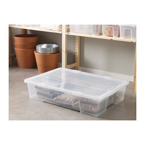 SAMLA caja con tapa, 55 litros