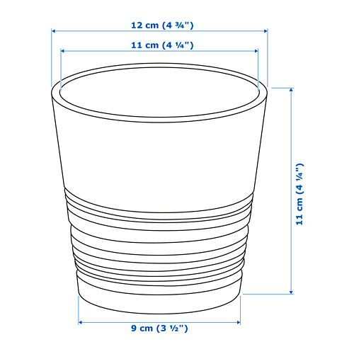 MUSKOT macetero, diámetro máximo maceta, 9 cm