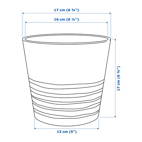 MUSKOT Macetero, diámetro máximo maceta, 15 cm