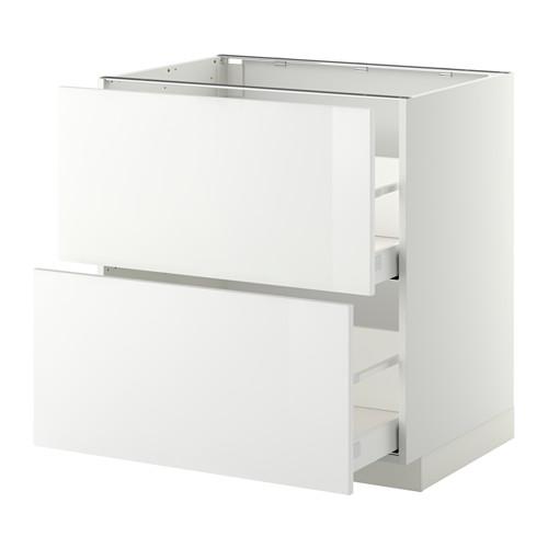 METOD/MAXIMERA armario bajo cocina 2 cajones