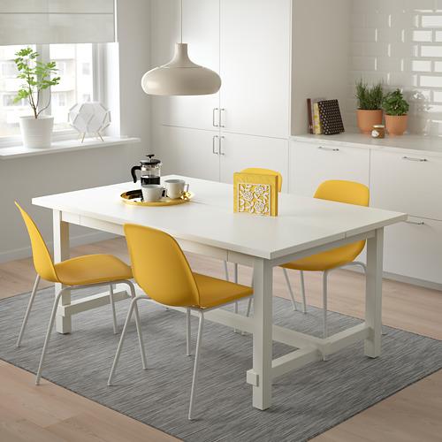 LEIFARNE/NORDVIKEN mesa extensible con 4 sillas, máximo extensión 223cm