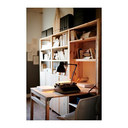 IVAR estantería, 3 secciones con estantes, armarios y mesa plegable, 259x30y104x179cm
