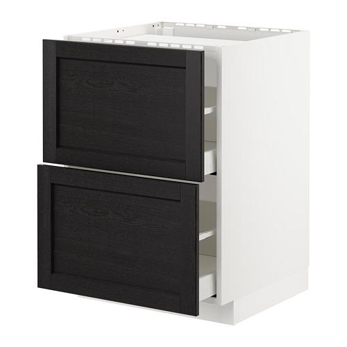 METOD/MAXIMERA armario bajo para placa 2 cajones