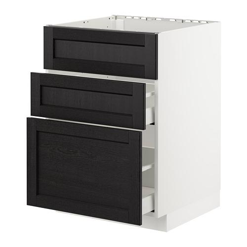 METOD armario bajo fregadero 2 cajones