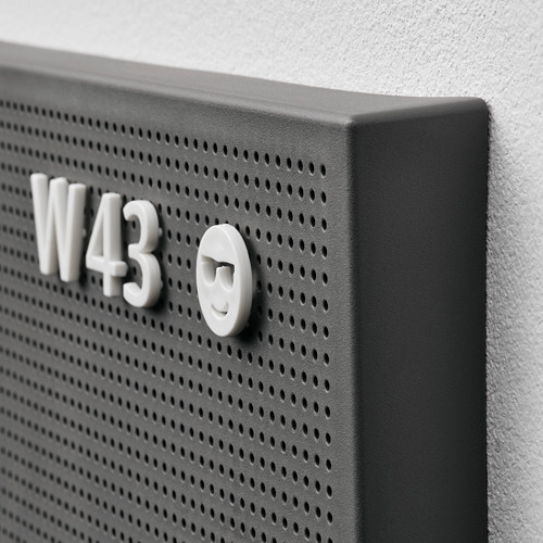 SVENSÅS panel perforado con letras, 30x40cm