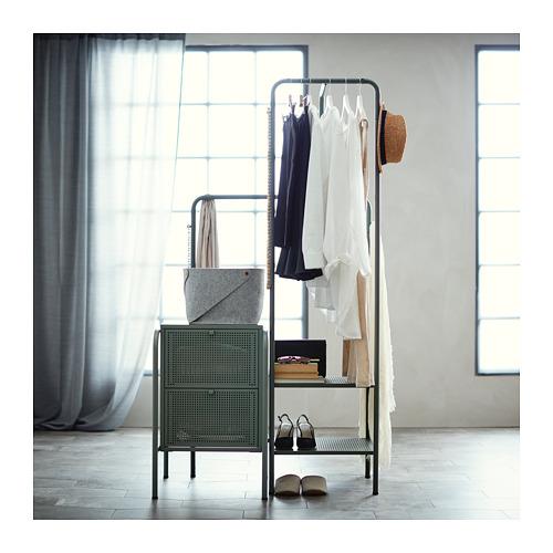 NIKKEBY cómoda vertical de 2 cajones, 46x49x70cm