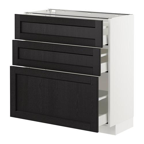 METOD armario bajo cocina con 3 cajones