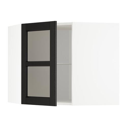 METOD armario de pared esquina con baldas