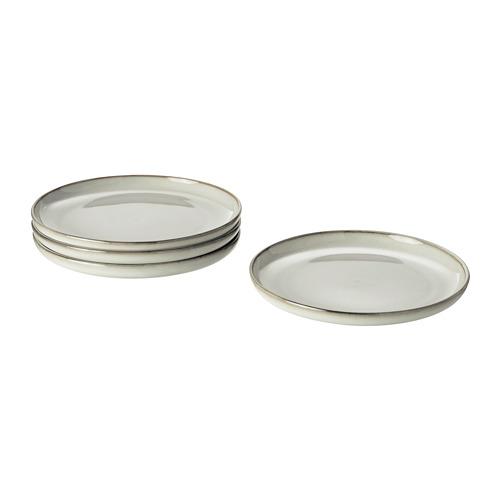 GLADELIG juego de 4 platos de 20cm de diámetro