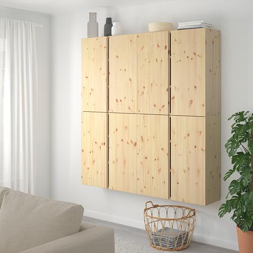 IVAR Estantería, armario de pared con puertas, 160x30x163cm